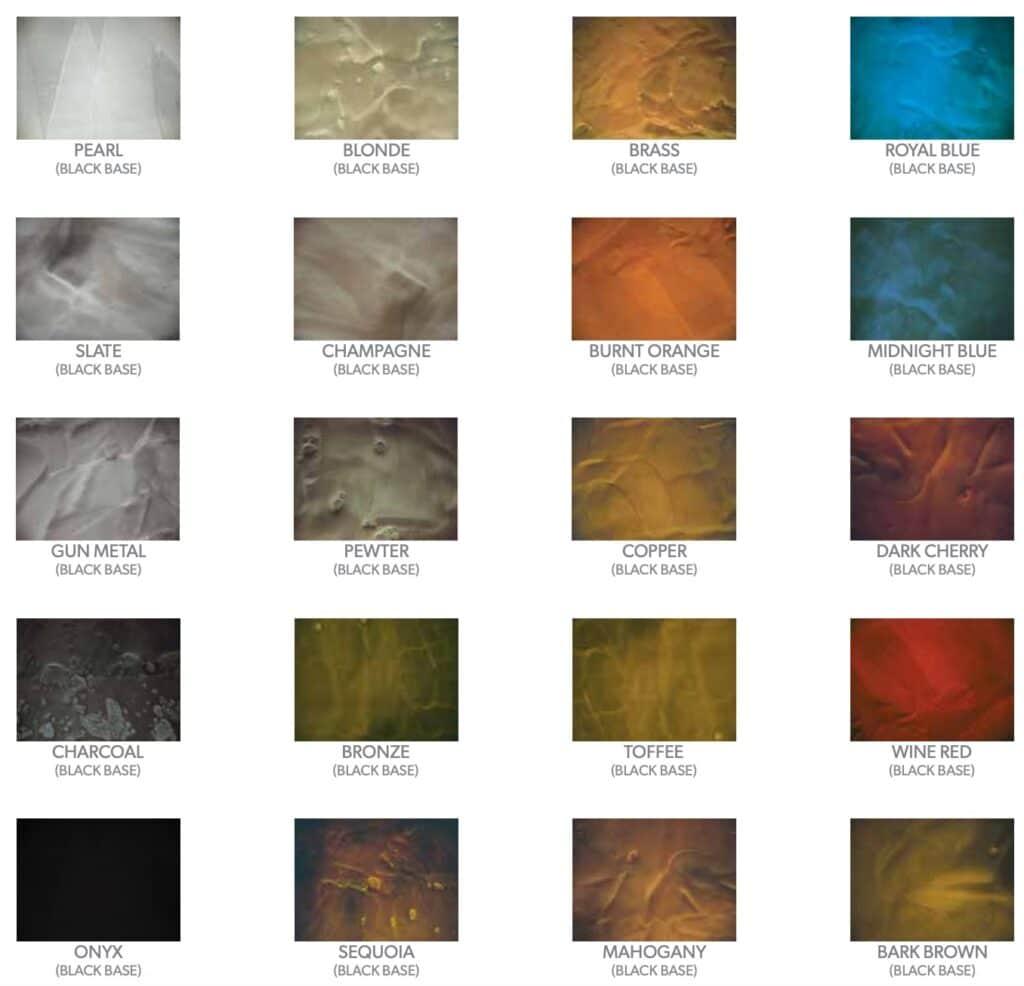 Metallic Epoxy Floor Color Chart