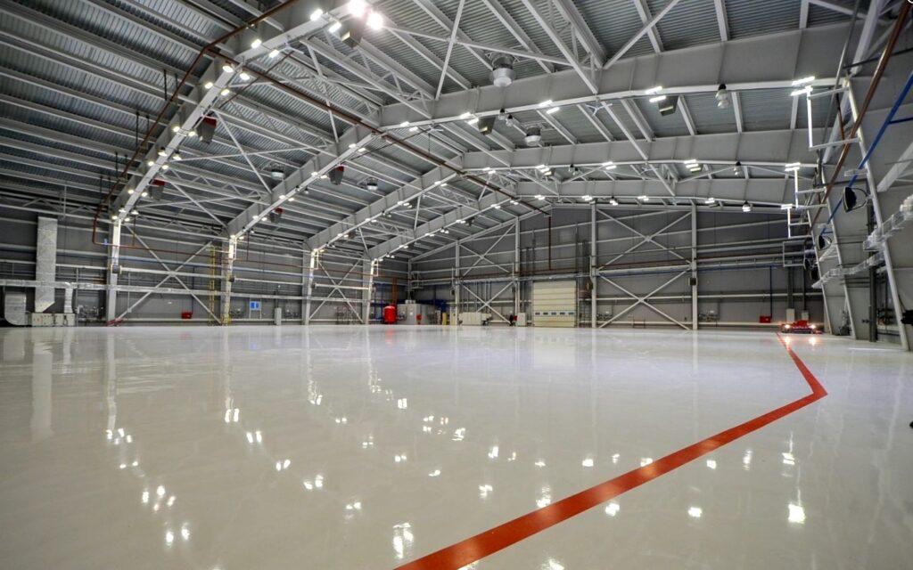 Epoxy Flooring Hangar