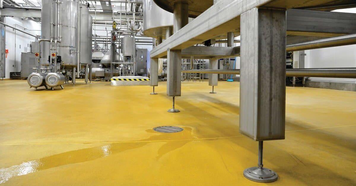 Milk processing floor