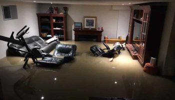 Flooded Basement Floor Remediation